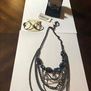 NWT Kenneth Cole necklace, rings and earrings.